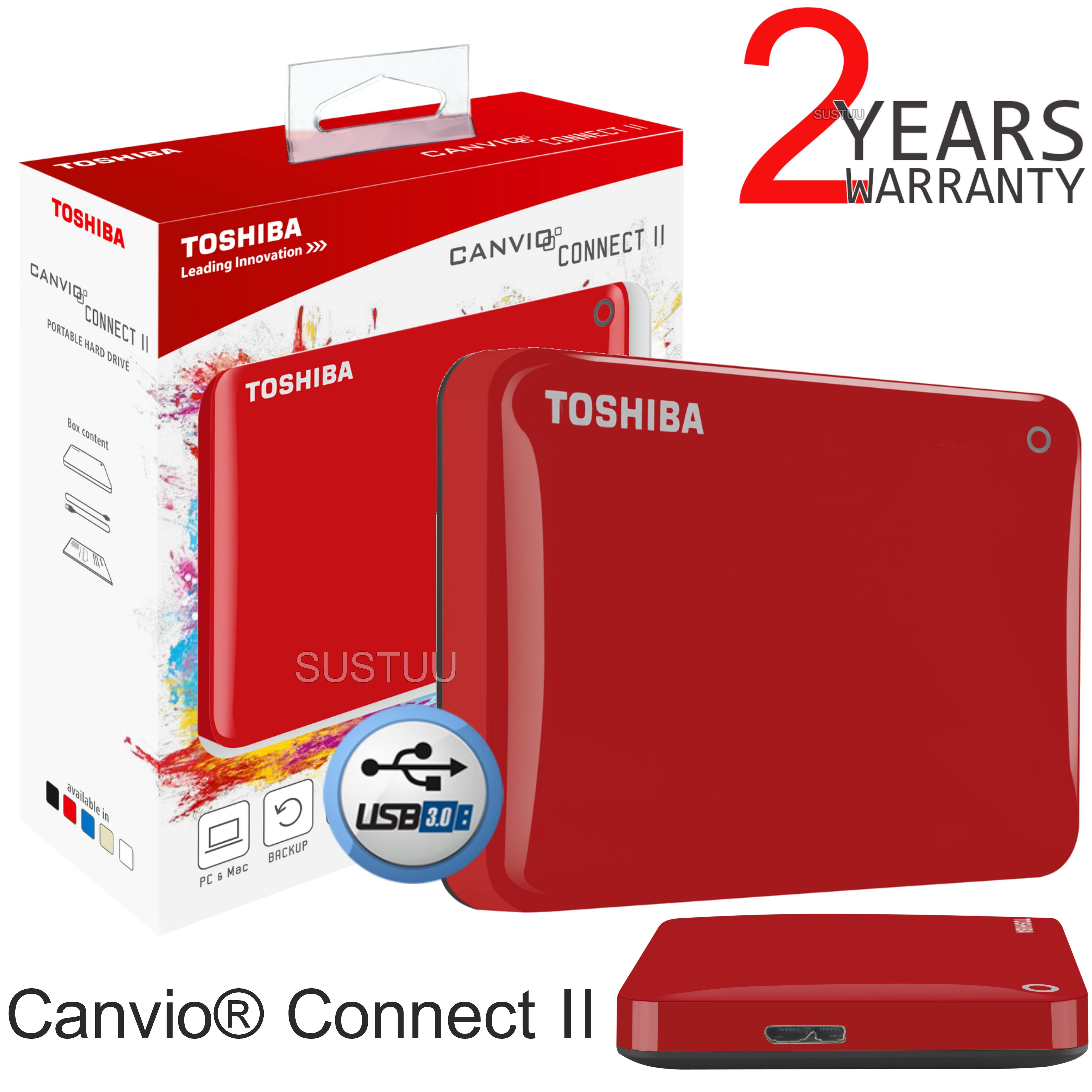 Toshiba 1tb Canvio Connect Ii Portable External Hard Drive Disk Thosiba Basic Hardisk Exsternal 25 Hdd