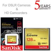 SanDisk 128GB Extreme Compact Flash MemoryCard | 120 MB/s | For DSLR Cameras/HD Camcorders
