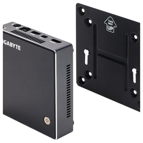Gigabyte Brix BXBT-2807 Mini PC Intel Celeron Ultra Compact PC Kit - Barebones Thumbnail 4