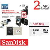 SanDisk 32GB High Endurance Video Monitoring MicroSD Card & Adpter | Ideal For Dash Cams & Home Video Monitoring Cameras