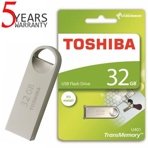 Toshiba TransMemory U401 32GB USB 2.0 Metal Flash Drive/Pen Drive | Shock & Dust Resistant Thumbnail 1