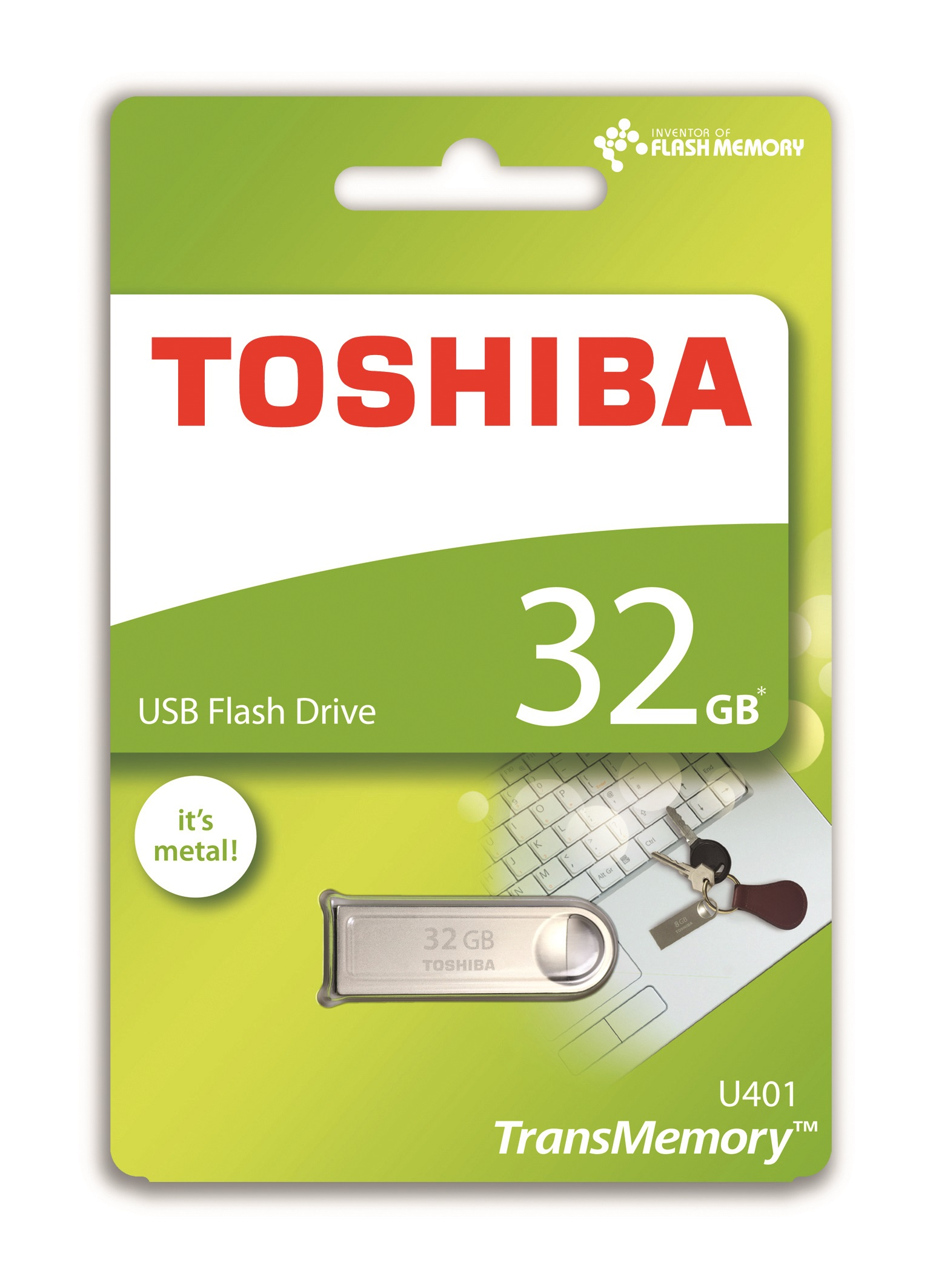 Toshiba TransMemory U401 32GB USB 2.0 Metal Flash Drive/Pen Drive | Shock & Dust Resistant Thumbnail 3