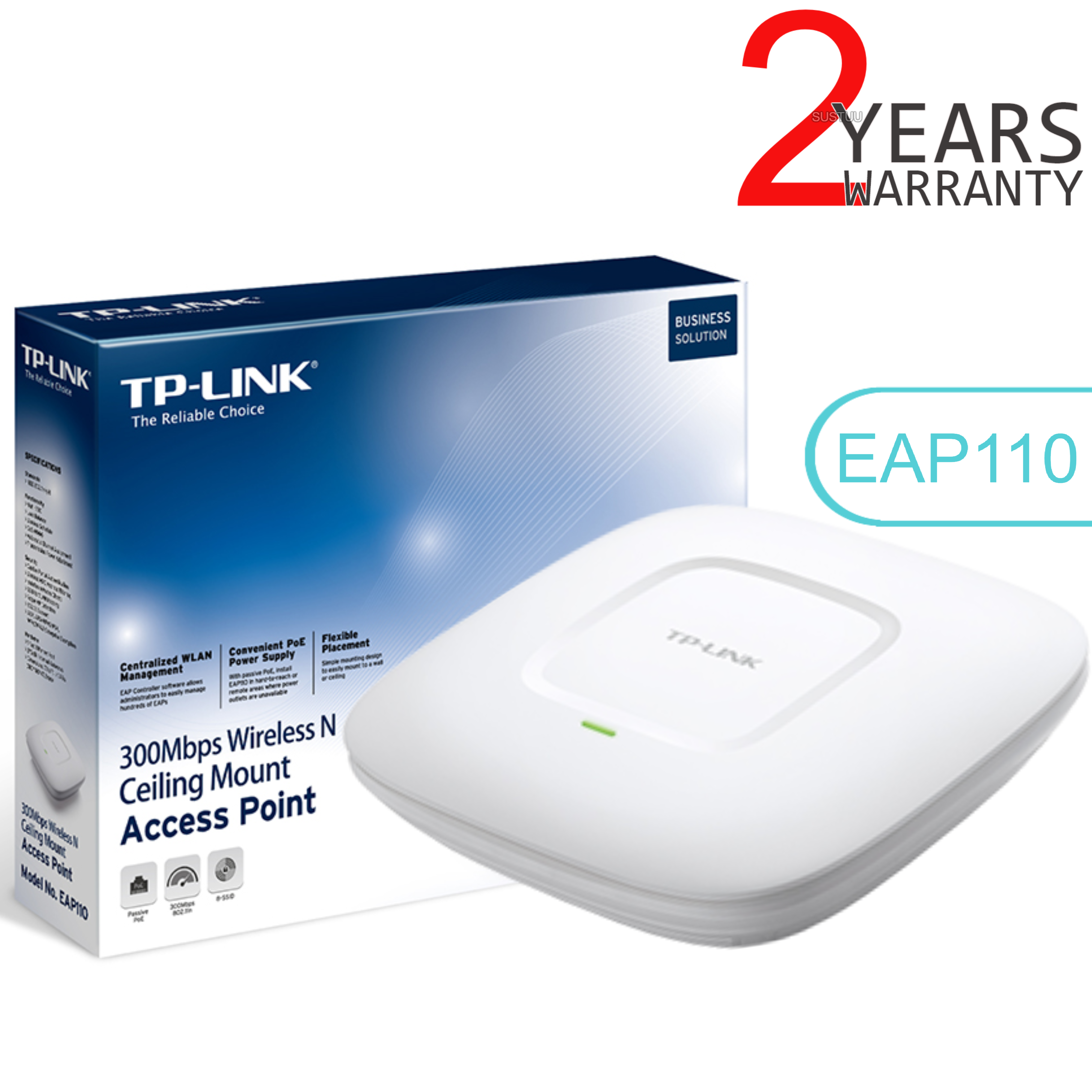 TP-Link EAP110|300Mbps Wireless N Ceiling Mount Access Point|Support Passive PoE