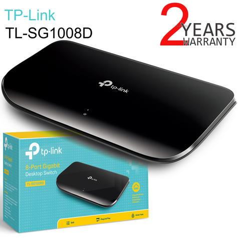 TP-Link TL-SG1008D V6 8-Port Gigabit Desktop Switch Auto MDI/ MDIX 10x faster Thumbnail 1