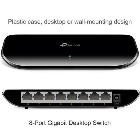 TP-Link TL-SG1008D V6 8-Port Gigabit Desktop Switch Auto MDI/ MDIX 10x faster Thumbnail 2