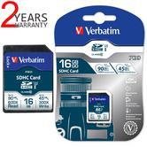Verbatim 47020 Pro 16GB SDHC U3 SD Card UHS-I V30 Class 10 Memory Card