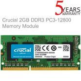 Crucial 2 GB Memory Kit (DDR3L | 1600 MT/s | PC3L-12800 | Single Rank | SODIMM | 204-Pin)