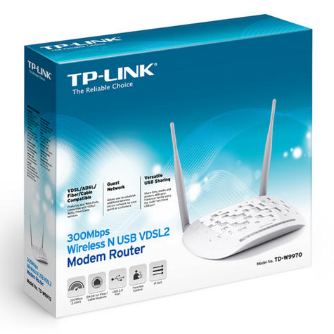 TP-Link TD-W9970|300Mbps Wireless N USB VDSL2/ADSL Modem Router|with USB Port Thumbnail 5