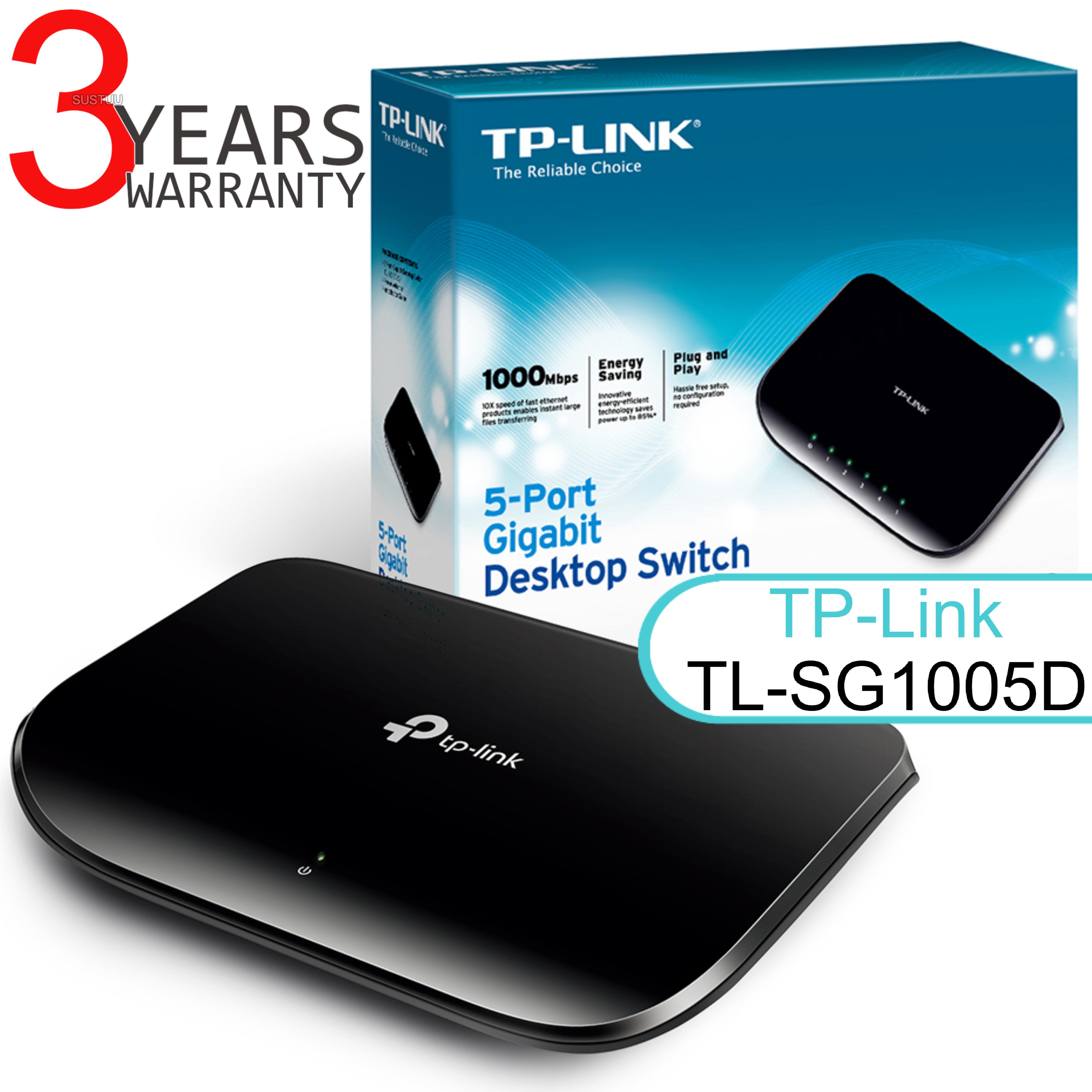 TP-Link TL-SG1005D V6|5-port Desktop Gigabit Switch|10/100/1000Mbps|Plug & Play