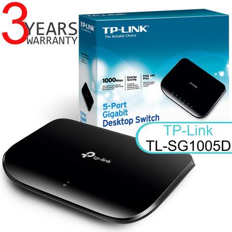 TP-Link TL-SG1005D V6|5-port Desktop Gigabit Switch|10/100/1000Mbps|Plug & Play Thumbnail 1