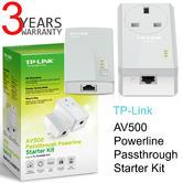 TP-Link AV500 Powerline Passthrough Starter Kit-TL-PA4016PKIT|500Mbps|Home Plug