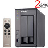 QNAP 2 Bay Desktop NAS Unit | 4TB WD RED Hard Drives | Storage Device with 2GB RAM