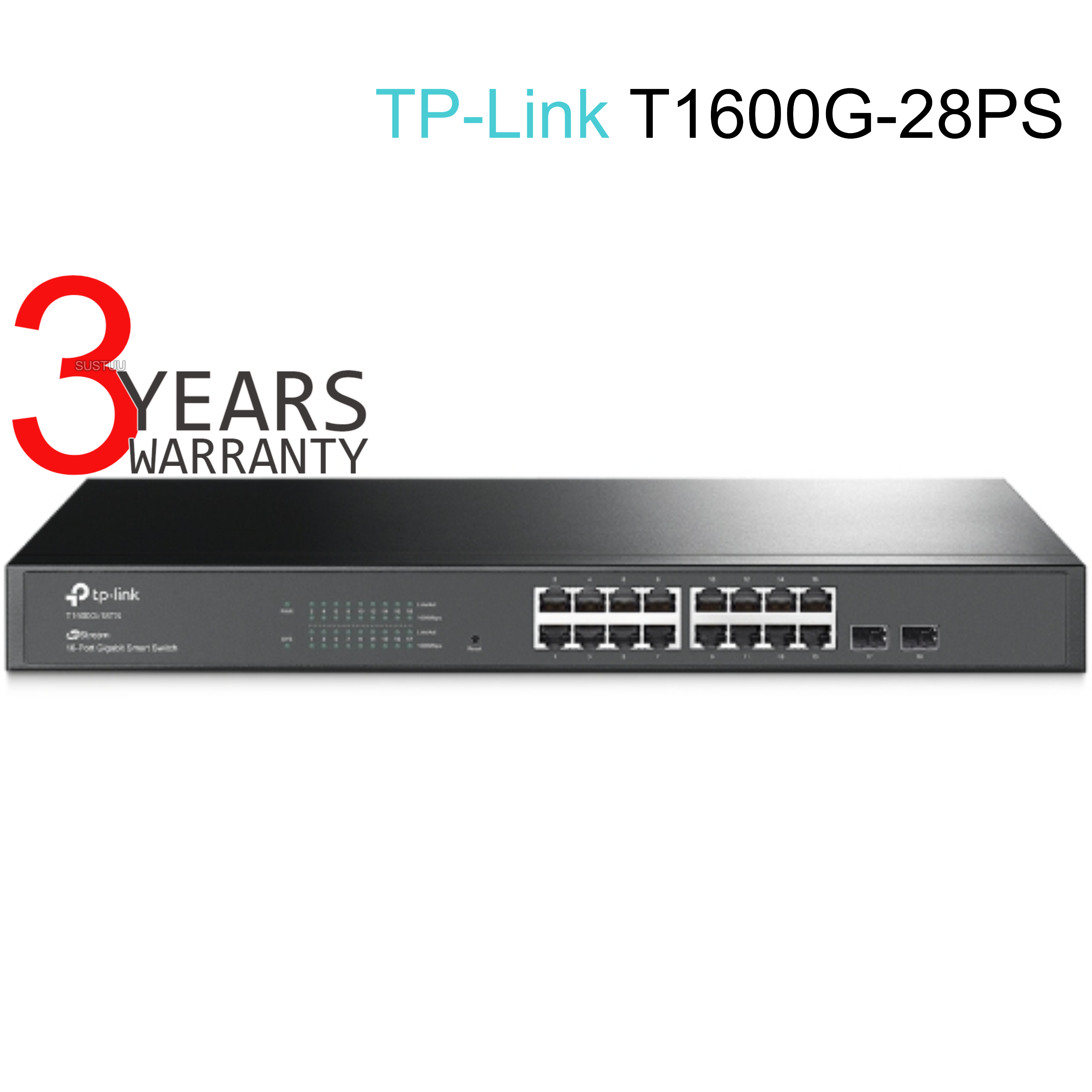 TP-Link T1600G-28PS|JetStream 24-Port Gigabit Smart PoE+ Switch with 4 SFP Slots