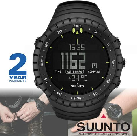 Suunto Core Outdoor Military Sports Watch | Altimeter | Barometer | Compass | All Black Thumbnail 1