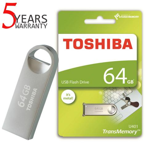 Toshiba TransMemory U401 64GB USB 2.0 Metal Flash Drive/Pen Drive | Shock & Dust Resistant Thumbnail 1
