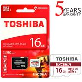 Toshiba EXCERIA M302 16GB Micro SD with Adap|90MB/S|4K Record|Use Phone & Camera