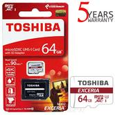 Toshiba EXCERIA M302 64GB Micro SD with Adap|90MB/S|4K Record|Use Phone & Camera