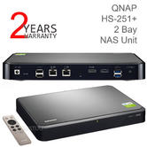 QNAP HS-251+ 2 Bay Network-Attached Storage Unit with 2GB RAM | HDTVs-Smartphones