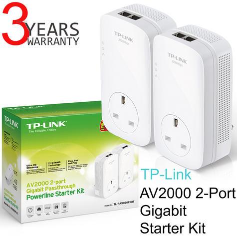 TP-Link AV2000 2-Port Gigabit Powerline Starter-TL-PA9020P KIT|Home Plug AV2 Thumbnail 1