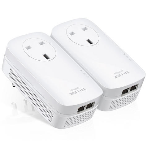 TP-Link AV2000 2-Port Gigabit Powerline Starter-TL-PA9020P KIT|Home Plug AV2 Thumbnail 4