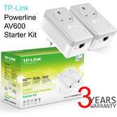 TP-Link AV600 Passthrough Powerline Starter Kit-TL-PA4010P KIT V2|600Mbps|Twin Pack