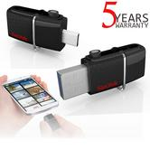 SanDisk 64GB Ultra Dual USB 3.0 Flash Drive/ Memory Stick | 150 MB/s | Designed For Smartphone & Tablet Users