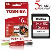 Toshiba EXCERIA N302 16GB Micro SD with Adap | 90MB/S | 4K & Full HD Record | For Phone & Camera
