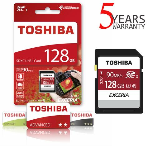 Toshiba EXCERIA N302 128GB Micro SD with Adap | 90MB/S | 4K & Full HD Record | For Phone & Camera Thumbnail 1