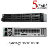 Synology RS3617RPxs 12 Bay Rackmount NAS Enclosure | Rack (3U) Black Ethernet LAN Storage Server
