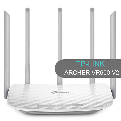 TP-Link ARCHER C60|AC1350 Wireless Dual Band Router|2.4GHz - 5GHz Band WiFi|White Thumbnail 1
