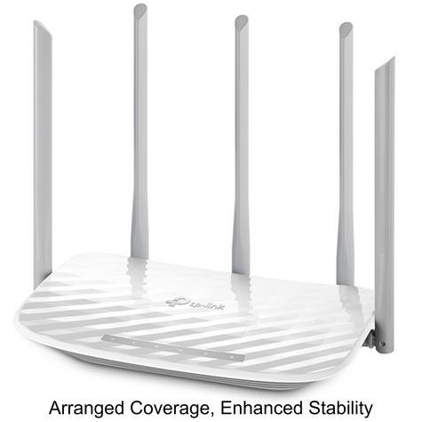 TP-Link ARCHER C60|AC1350 Wireless Dual Band Router|2.4GHz - 5GHz Band WiFi|White Thumbnail 3