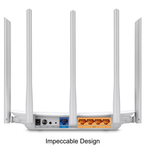 TP-Link ARCHER C60|AC1350 Wireless Dual Band Router|2.4GHz - 5GHz Band WiFi|White Thumbnail 4