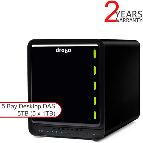 Drobo DDR4A31 5TB (5x1TB WD RED) 5 Bay DAS|Secure Storage Device|USB 3.0|Type-C| Thumbnail 1