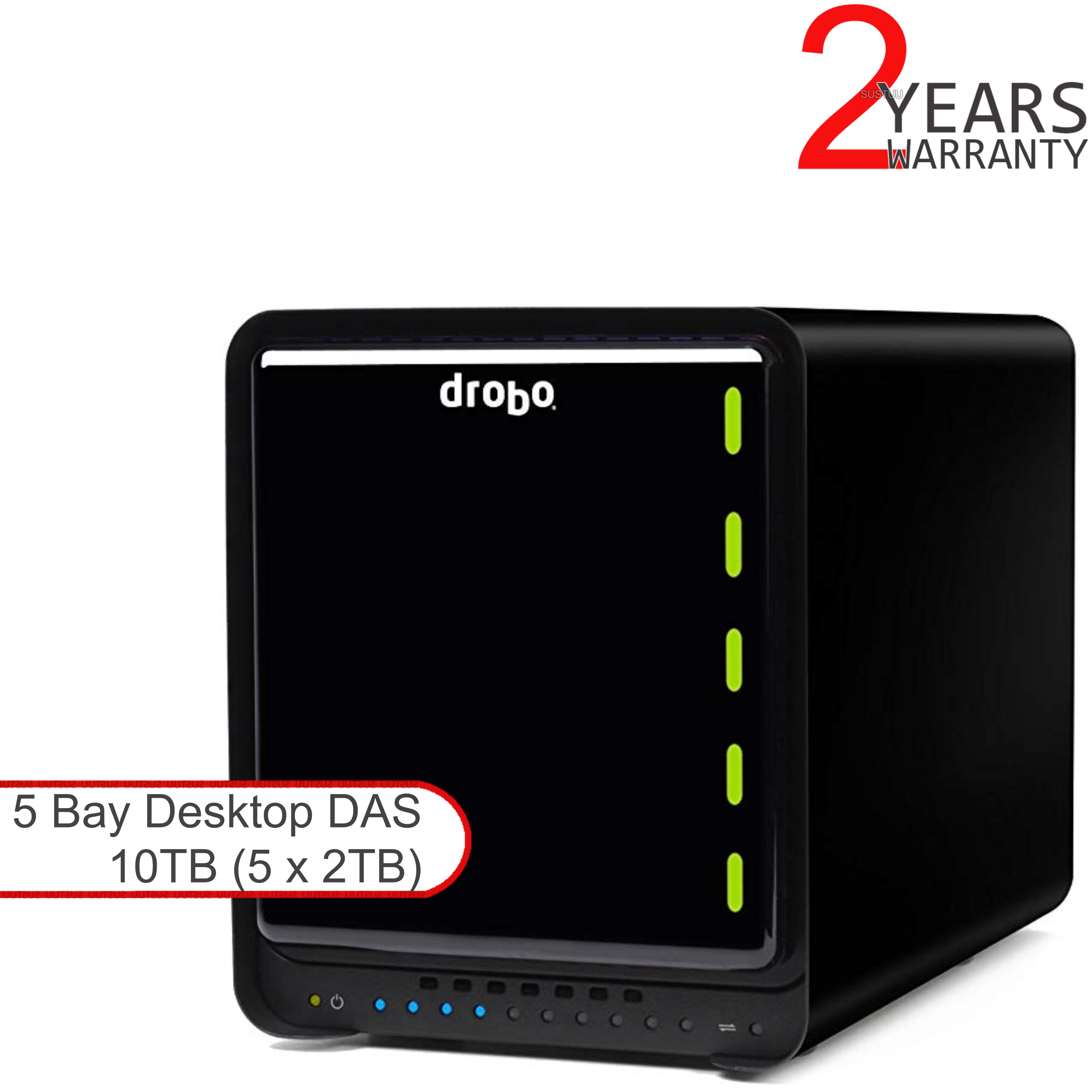 Drobo DDR4A31 10TB(5x2TB WD RED) 5 Bay DAS|Secure Storage Device|USB 3.0|Type-C|
