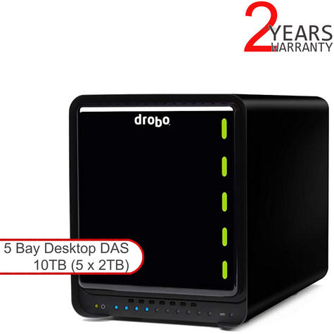 Drobo DDR4A31 10TB(5x2TB WD RED) 5 Bay DAS|Secure Storage Device|USB 3.0|Type-C| Thumbnail 1