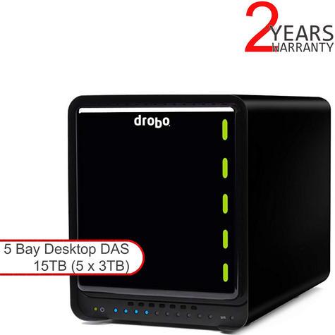 Drobo DDR4A31 15TB (5x3TB WD RED) 5 Bay DAS|Secure Storage Device|USB 3.0|Type-C Thumbnail 1