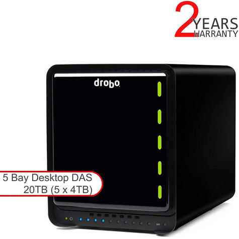 Drobo DDR4A31 20TB(5x4TB WD RED) 5 Bay DAS|Secure Storage Device|USB 3.0|Type C| Thumbnail 1