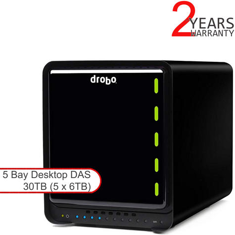 Drobo DDR4A31 30TB(5x6TB WD RED) 5 Bay DAS|Secure Storage Device|USB 3.0|Type C| Thumbnail 1