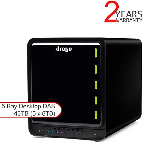 Drobo DDR4A31 40TB(5x8TB WD RED) 5 Bay DAS|Secure Storage Device|USB 3.0|Type 3| Thumbnail 1