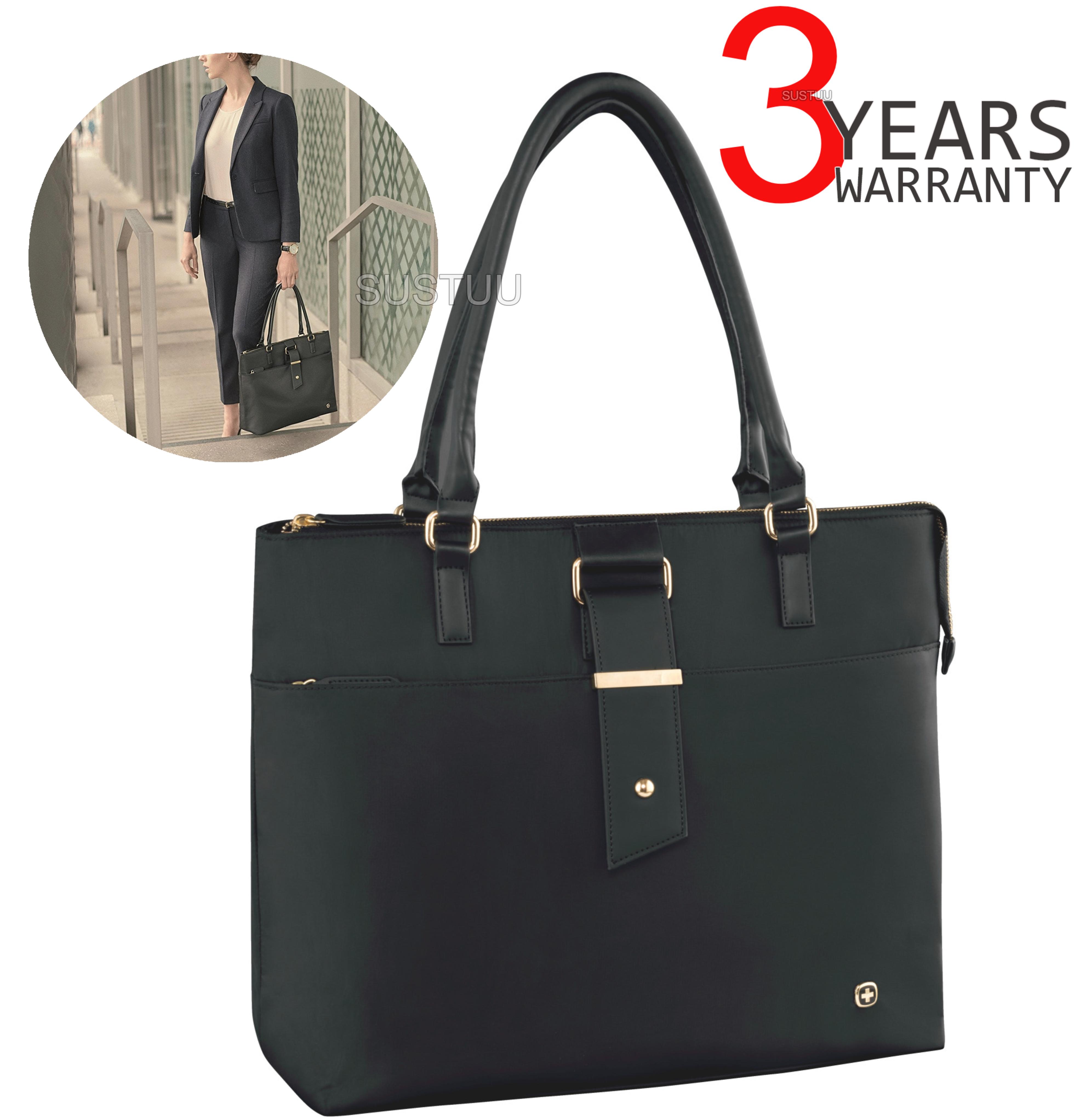5d5ae2610 Wenger Ana Women's Padded Laptop Tote Bag | Tablet Pocket | Interior  Zippered Pocket | Sustuu