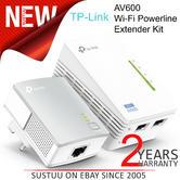 TP-Link 300Mbps AV600 Wi-Fi Powerline Extender Kit| TL-WPA4220KIT V1.20|Home Plug