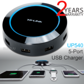 TP-Link UP540 5 Port USB Charger - 40W|5 Universal Ports|Smart 65% Faster Charge