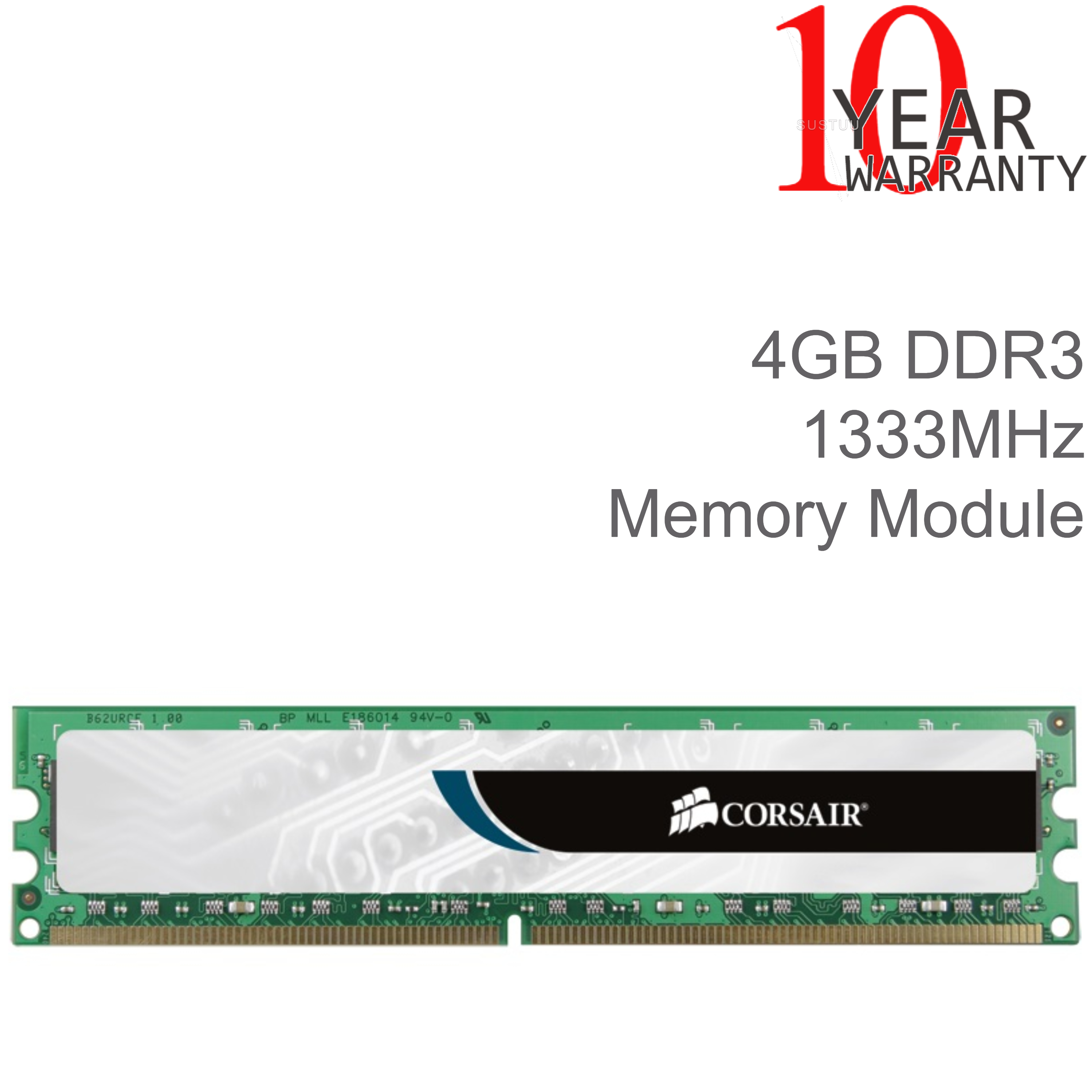 Corsair 4GB DDR3 1333MHZ Memory Module | Unbuffered CL9 Mainstream Desktop  RAM | NEW