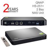 QNAP HS-251+ (2GB)/16TB-SIW 2 Bay Network-Attached Storage Unit | HDTVs-Smartphone