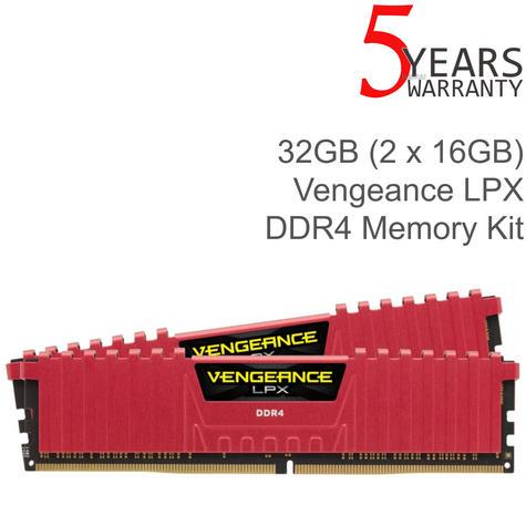 Corsair 32GB (2x16GB) Vengeance LPX DDR4 High Performance Desktop Memory Kit | Red Thumbnail 2