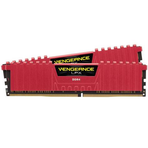 Corsair 32GB (2x16GB) Vengeance LPX DDR4 High Performance Desktop Memory Kit | Red Thumbnail 1