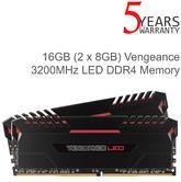 Corsair 16GB (2 x 8GB) Vengeance DDR4 Red LED Illuminated Memory Kit | 3200MHz | NEW