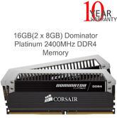 Corsair 16GB (2 x 8GB) Dominator Platinum DDR4 Desktop Memory Kit | 2400MHz | 1.35V