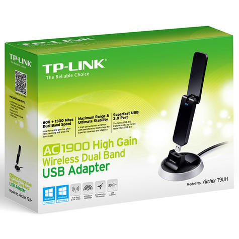 TP-Link ARCHER T9UH|AC1900 High Gain Wireless Dual Band USB 3.0 Adapter|600Mpbs Thumbnail 6