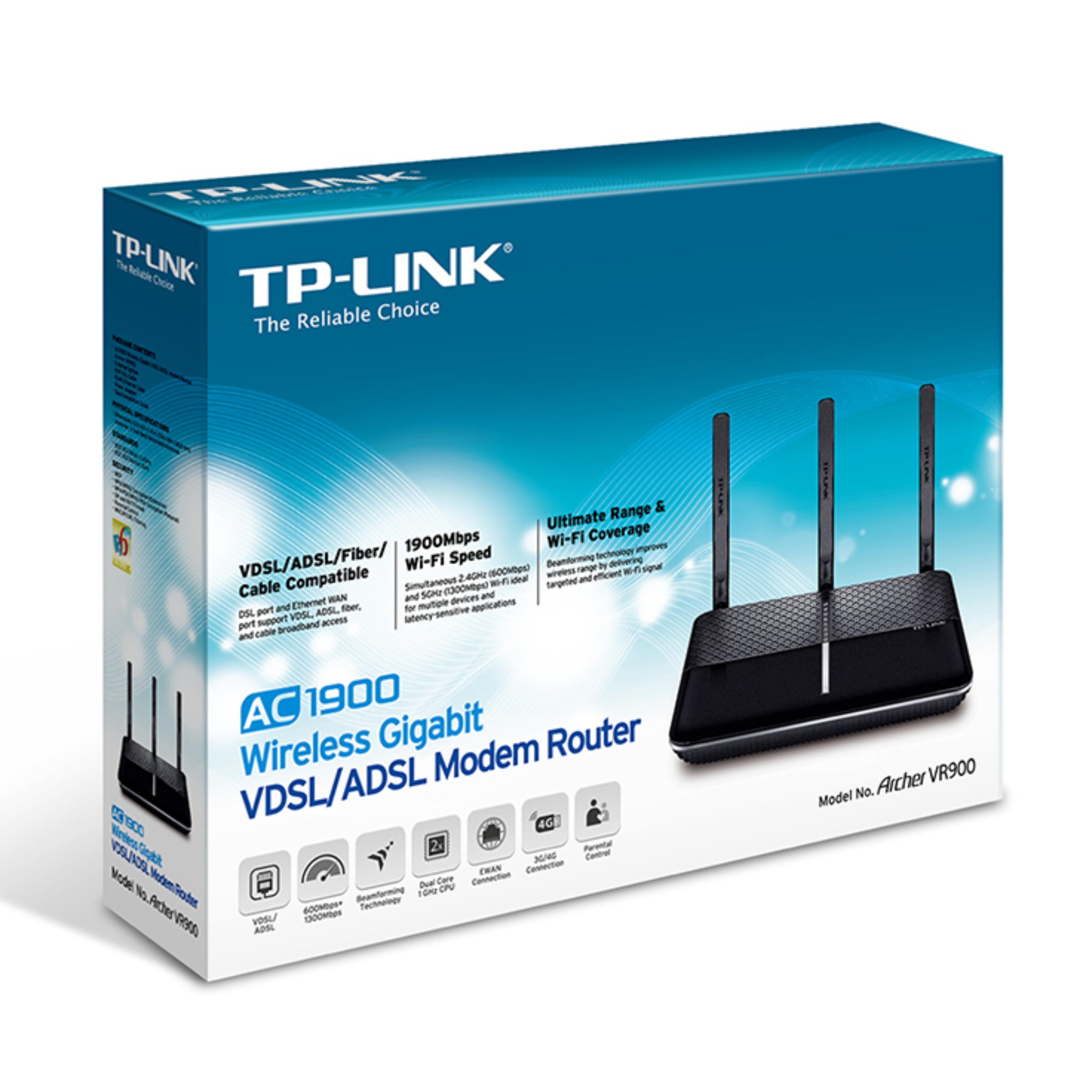 TP-Link ARCHER VR900 V2 |AC1900 Wireless Gigabit VDSL/ADSL Modem ...